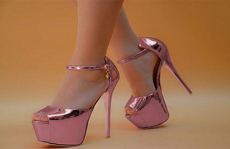 Person wearing pink heels